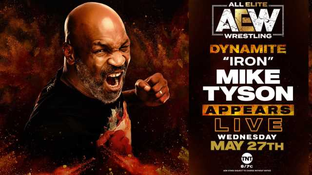 Mike Tyson Will Appear on Wednesday's AEW Dynamite