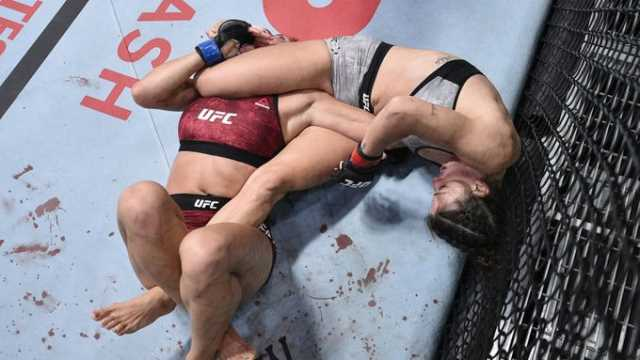 PIC: Colby Covingtons RUTHLESS Reaction to Mackenzie Dern