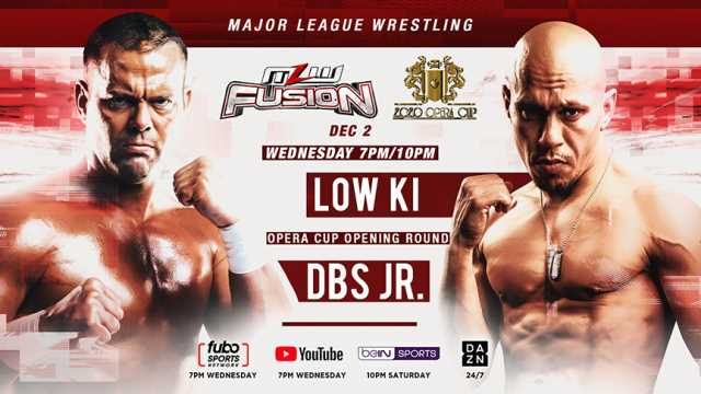 The 2020 OPERA CUP Tournament Continues With A Rematch Between Low Ki And Davey Boy Smith Jr. On Tonight's MLW