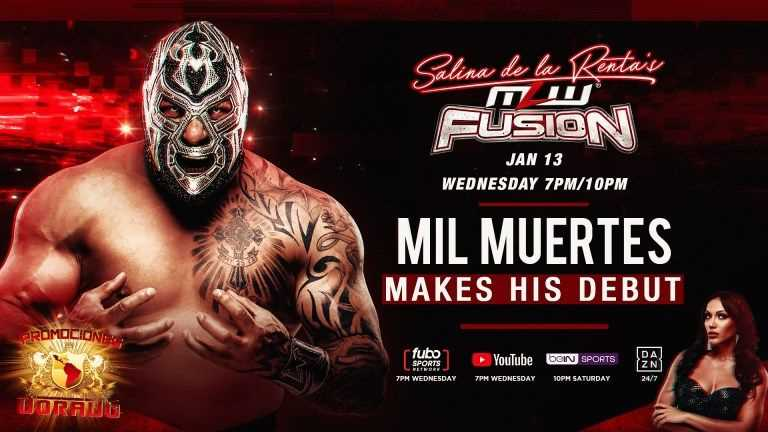 Former LUCHA UNDERGROUND Champion Mil Muertes Makes His Debut On Tonight's MLW FUSION