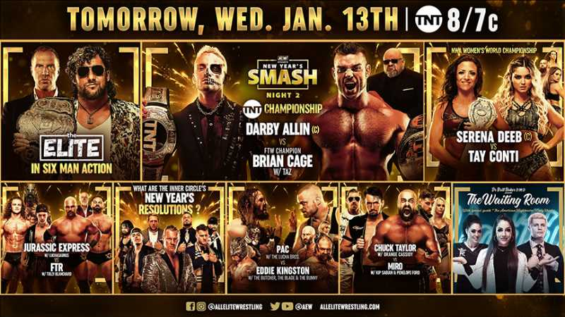 Two Championship Matches Highlights Night Two Of AEW NEW YEAR's SMASH Special