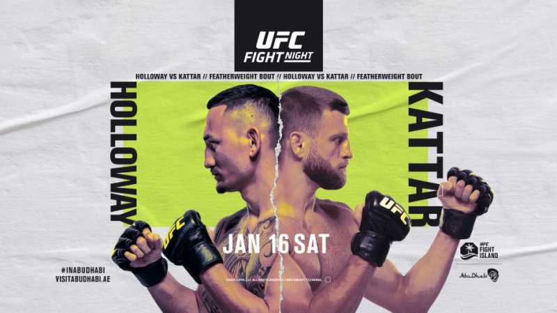 Max Holloway And Calvin Kattar Will Battle On The First UFC FIGHT NIGHT Show Of 2021