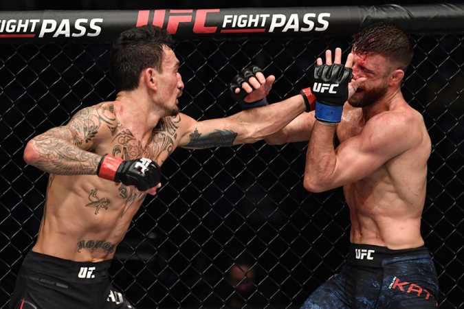 Former UFC Featherweight Champion Max Holloway Dominates Calvin Kattar At UFC ON ABC 1