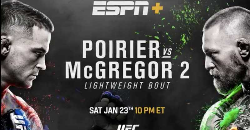Dustin Poirier Vs. Conor McGregor II Headlines Tonight's UFC 257