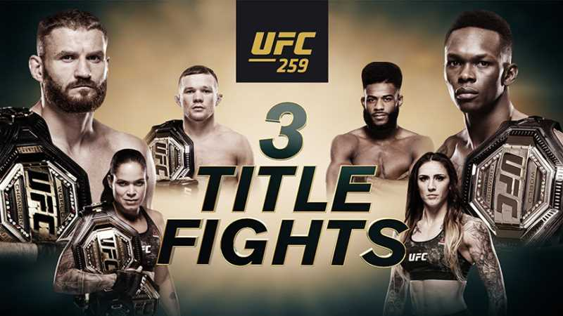 Three Big Championship Fights Will Headline Tonight's UFC 259